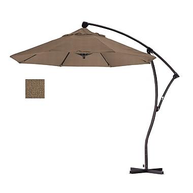 California Umbrella 9' Cantilever Umbrella; Woven Sesame