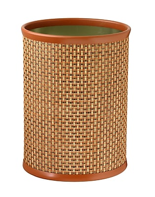 Kraftware Woven 3.25 Gallon Waste Basket; Topaz