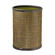 Kraftware Woven 3.25 Gallon Plastic Trash Can; Copper