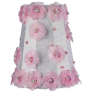 Jubilee Collection 3.25'' Silk Empire Candelabra Shade; White and Pink