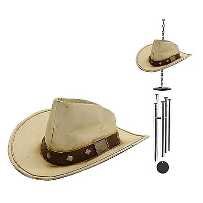 Exhart Cowboy Hat Wind Chime