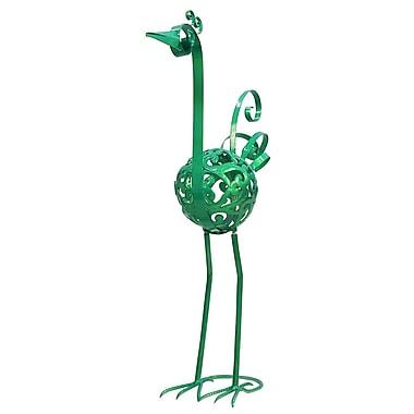 Exhart Baby Metallic Filigree Bird; Green