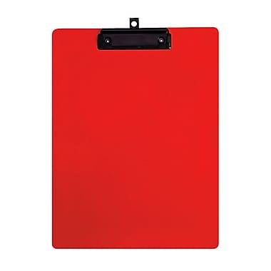 Geo – Planchettes en plastique, format lettre, 9 x 12 po, rouge, 12 par paquet