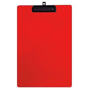 Geo – Planchettes en plastique, format légal, 9 x 15 po, rouge, 12 par paquet