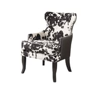 !nspire FauxCow Hide Fabric Arm Chairs