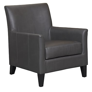 !nspire Faux Leather Arm Chair, Grey