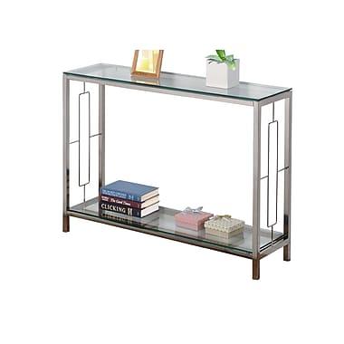 !nspire – Table console de 30 po, chrome/verre