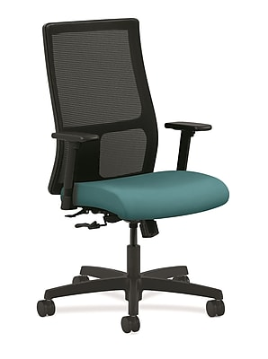 HON Ignition Fabric Computer and Desk Office Chair, Adjustable Arms, Glacier (HONIW101CU96)