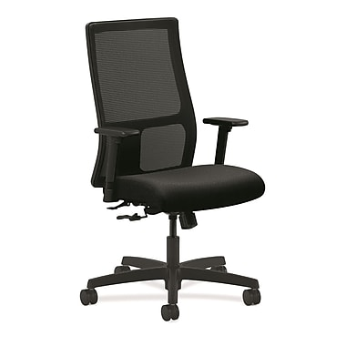 HON Ignition Mesh Computer and Desk Office Chair, Adjustable Arms, Black (HONIW101NT10)