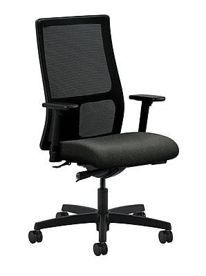 HON® HONIW103AB12 Ignition® Fabric Mid-Back Mesh Office Chair with Adjustable Arms, Gray