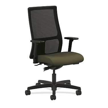HON Ignition Fabric Executive Office Chair, Adjustable Arms, Olivine (HONIW103CU82)