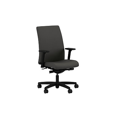 HON Ignition Mid-Back Task Chair Synchro-Tilt with Adjustable Arms, Iron Ore Fabric