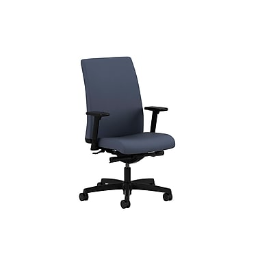 HON Ignition Mid-Back Task Chair Synchro-Tilt with Adjustable Arms, Cerulean Fabric