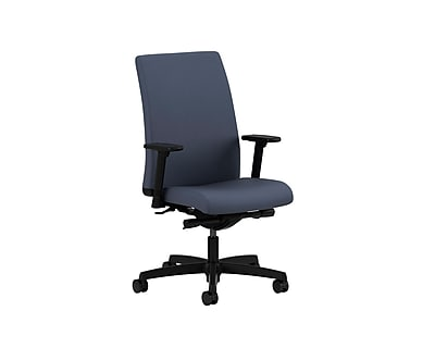 HON® Ignition® Mid-Back Office/Computer Chair, Adjustable Arms, Synchro-Tilt, Centurion Blue Fabric
