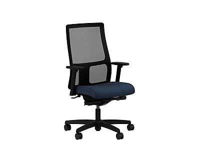 HON Ignition Fabric Computer and Desk Office Chair, Adjustable Arms, Blue (HONIWM108AB90)