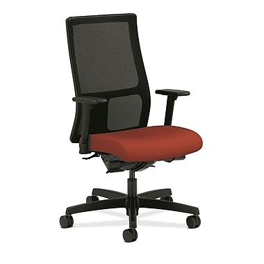 HON Ignition Fabric Computer and Desk Office Chair, Adjustable Arms, Poppy (HONIW108CU42)