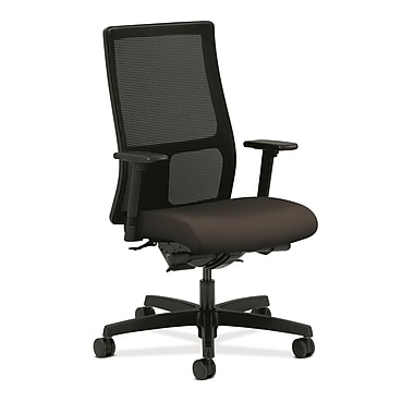 HON Ignition Fabric Computer and Desk Office Chair, Adjustable Arms, Espresso (HONIW108CU49)