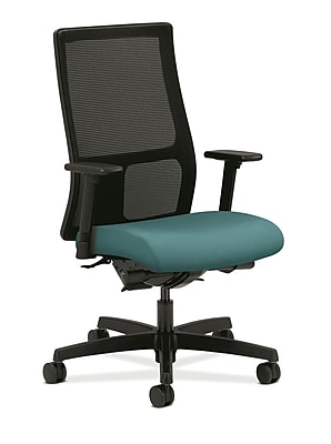 HON Ignition Fabric Computer and Desk Office Chair, Adjustable Arms, Glacier (HONIW108CU96)
