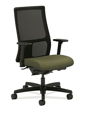 HON Ignition Fabric Computer and Desk Office Chair, Adjustable Arms, Clover (HONIW108NR74)