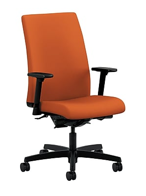 HON Ignition Fabric Computer and Desk Office Chair, Adjustable Arms, Tangerine (HONIW104CU46)