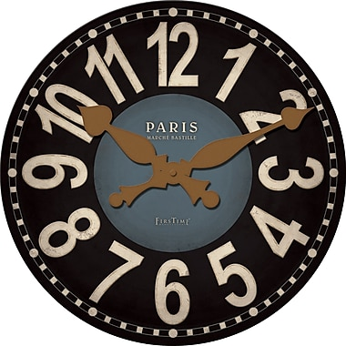 FirsTime 25653 MDF Analog Wall Clock,