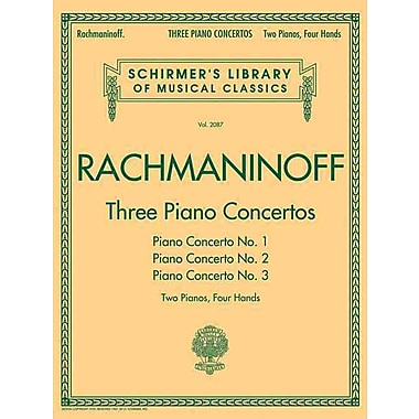 THREE PIANO CONCERTOS - CONCERTO NOS. 1 2 3 - 2 PIANOS/4 HANDS (Schirmer's Library of Musical Classics)