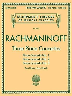 THREE PIANO CONCERTOS - CONCERTO NOS. 1 2 3 - 2 PIANOS/4 HANDS (Schirmer's Library of Musical Classics)