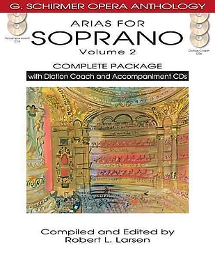 ARIAS FOR SOPRANO VOLUME 2 COMPLETE PACKAGE BOOK/DICTION COACH/ACCOMPANIMENT CDS (G. Schirmer Opera Anthology)