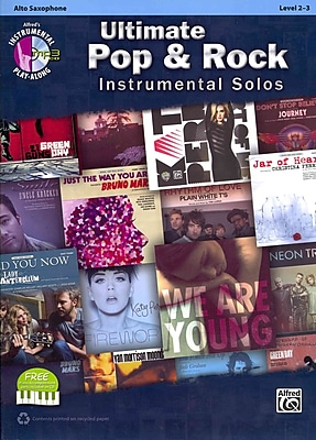 Ultimate Pop Instrumental Solos: Alto Sax (Book & CD) (Alfred's Instrumental Play-Along, Level 2-3)