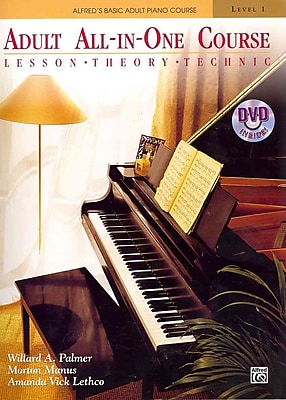Alfred's Basic Adult All-in-One Course, Bk 1: Lesson * Theory * Technic (Book & DVD) (Alfred's Basic Adult Piano Course)