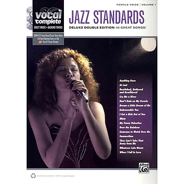 Vocal Complete -- Female Voice Jazz Standards: Piano/Vocal Sheet Music with Orchestrated Backing Tracks (Book & 2 Enhanced CDs)