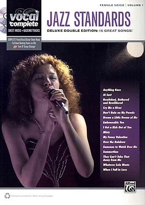 Vocal Complete -- Female Voice Jazz Standards: Piano/Vocal Sheet Music with Orchestrated Backing Tracks