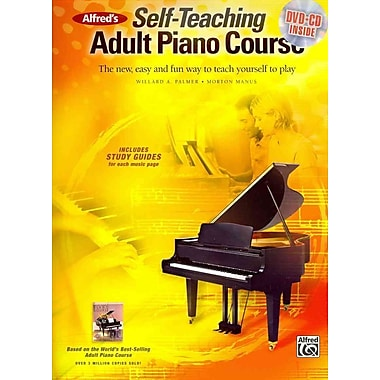 Alfred's Self-Teaching Adult Piano Course: The new, easy and fun way to teach yourself to play (Book, CD & DVD)