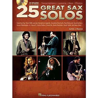 25 Great Sax Solos BK/CD Transcriptions Lessons Bios Photos