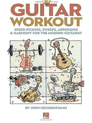 GUITAR WORKOUT - SPEED PICKING SWEEPS ARPEGGIOS & HARMONY FOR THE MODERN GUITARIST