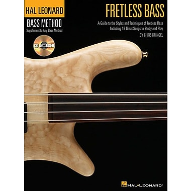 FRETLESS BASS HAL LEONARD BASS METHOD STYLISTIC SUPPLEMENT BK/CD