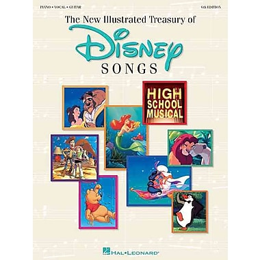 The New Illustrated Treasury of Disney Songs: Piano-Vocal-Guitar