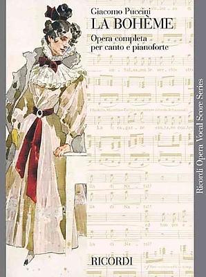 LA BOHEME VOCAL SCORE PAPER ITALIAN NEW ART COVER