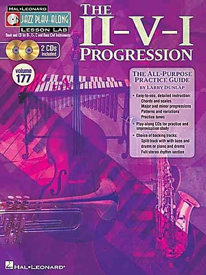 The II-V-I Progression: Jazz Play-Along Lesson Lab (Volume 177) Book/2-CD Pack
