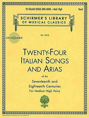 24 Italian Songs and Arias: Medium High Voice (Book/CD, Vocal Collection)
