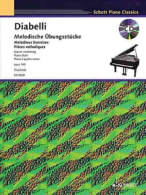 Melodious Exercises, Op. 149: With a CD of Piano Accompaniments