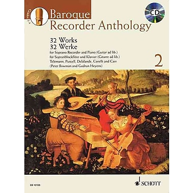 BAROQUE RECORDER ANTHOLOGY VOL. 2: 32 WORKS FOR SOP REC. AND PNO/GTR BOOK/CD