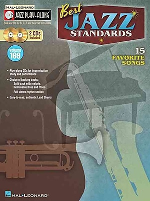 Best Jazz Standards: Jazz Play-Along Volume 169 (BookCD)