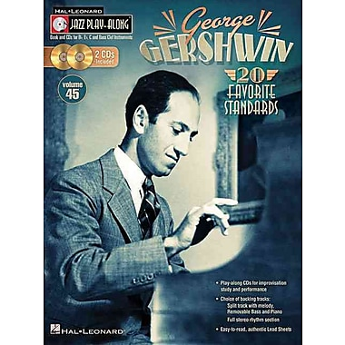 George Gershwin - Jazz Play-Along Volume 45 (Book/2-CD Pack) (Hal Leonard Jazz Play-Along)