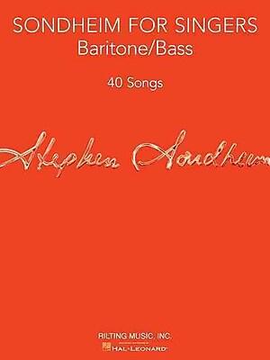 Sondheim for Singers: Baritone/Bass (40 Songs)