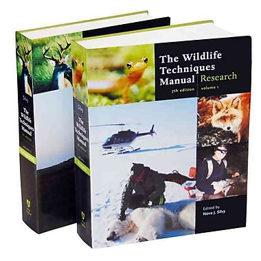 The Wildlife Techniques Manual: Volume 1: Research. Volume 2: Management 2-vol. set