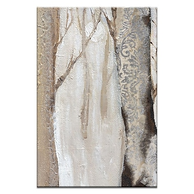 Artist Lane Moonlit Trees 2 by Karen Hopkins Framed Painting Print on Wrapped Canvas