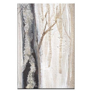 Artist Lane Moonlit Trees 3 by Karen Hopkins Framed Painting Print on Wrapped Canvas