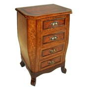Cheungs Wooden Chest w/ 4 Drawers and Cupped Handles