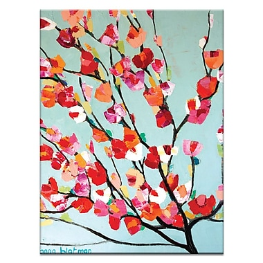 Artist Lane Magnolia Bloom by Anna Blatman Framed Painting Print on Wrapped Canvas